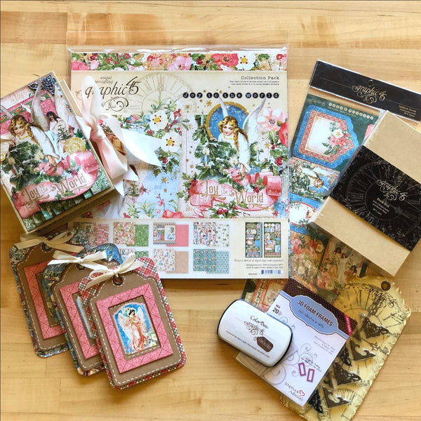 Graphic 45 Monthly Class Series Vol 10 2019 - Holiday 3D Book Box & Card Trio