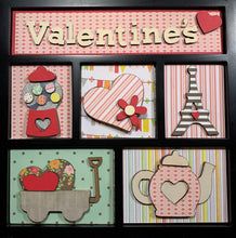 Valentines Shadow Box Kit ~ papers included