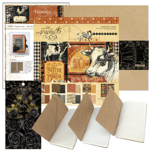 June Graphic 45 Monthly Class Series Vol 6 2020 - Farmhouse Notebook Folio. Layout