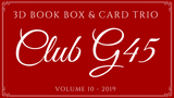 October Graphic 45 Monthly Class Series Vol 10 2019 - Holiday 3D Book Box & Card Trio
