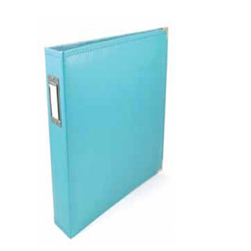 We R Memory Keepers Classic Leather - 6 x 12 - Three Ring Albums - Aqua