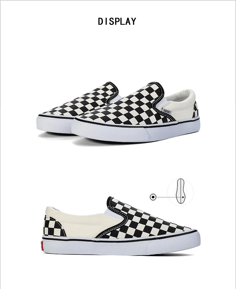0b4872010c ... checkered checkerboard vans styled old skool fashion Casual Shoes Women  Loafers Brand Canvas Ladies Shoes Black ...