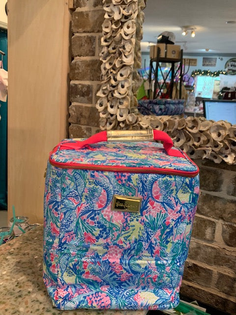 Lily Pulitzer 4 wine botttle cooler Mermaids Cove