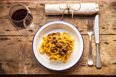 Bologna home sweet home, a dish of Tagliatelle