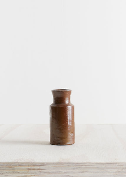 Small Stoneware Ink Bottle Vase