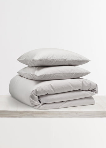 Relaxed Cotton Bedding Bundle in Dove Grey by Bedfolk