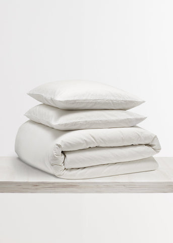Relaxed Cotton Bedding Bundle in Snow White by Bedfolk