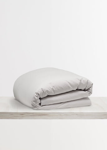 Relaxed Cotton Duvet Cover in Dove Grey by Bedfolk