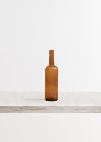 Large Amber Glass Wine Tonic Bottle