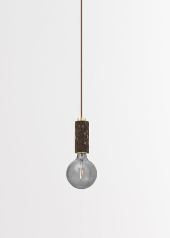 Blackened Cork + Brass Pendant Light by NOVE Lighting