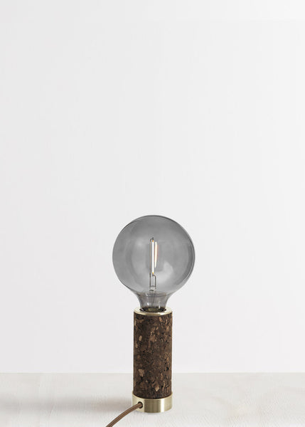 Blackened Cork + Brass Table Lamp by NOVE Lighting