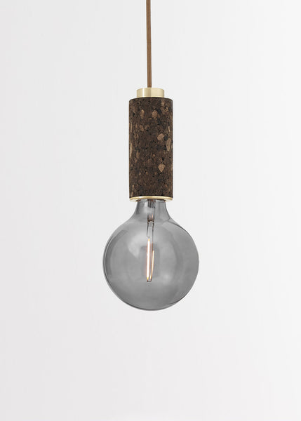 Blackened Cork + Brass Wall Light by NOVE Lighting