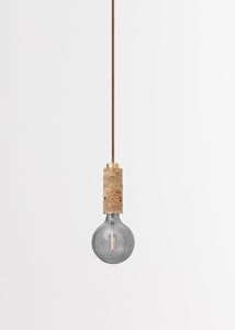 Marbled Cork + Brass Pendant Light by NOVE Lighting