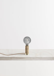 Marbled Cork + Brass Table Lamp by NOVE Lighting