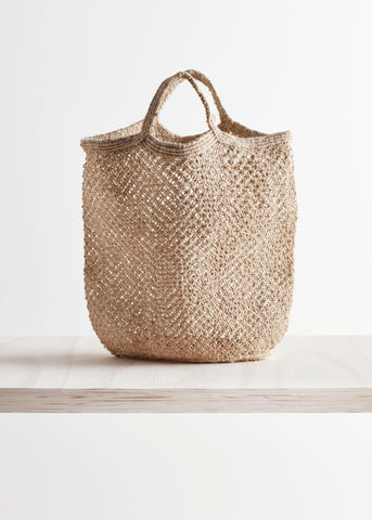 Macrame Jute Bag by Maison Bengal