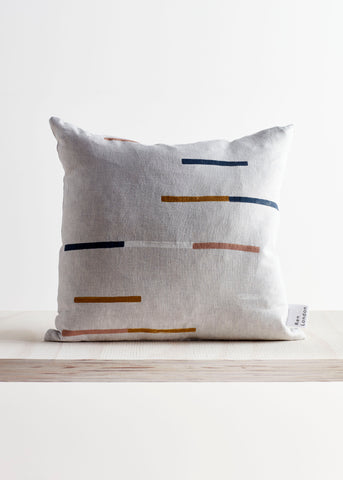 Block Print Linen Cushion by Ren London
