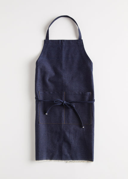 Japanese Selvedge Denim Apron by Wayside Flower