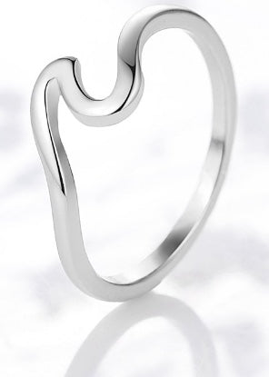 LiveforBlu Good Vibes Wave Ring