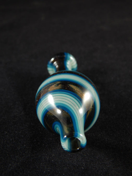 Daveycakes Blue and Brown Linework Bubble Cap