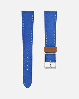 Sky Blue Suede Watch Strap