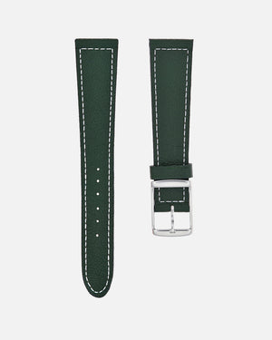 British Green Boxed Stitch Watch Strap