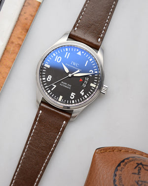 IWC mark 17 Dark Brown Leather Watch Strap