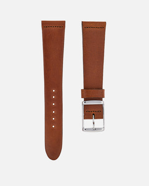 Faded Brown Leather Watch Strap