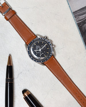 speedmaster with Honey Smooth Calfskin Watch Strap