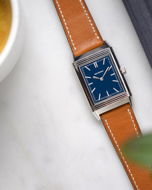 reverso with leather watch strap