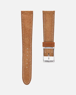Light Brown Suede Watch Strap