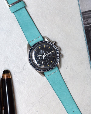 Suede Turquoise Watch Strap for omega speedmaster moonwatch