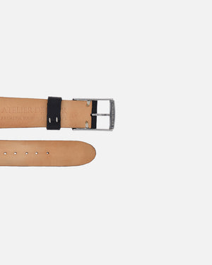 Smooth Black Minimal Stitch Watch Strap