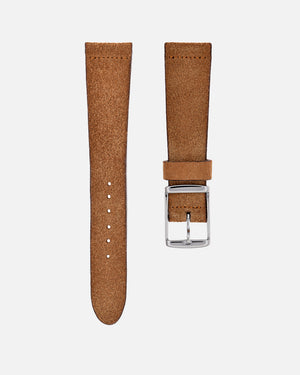 Suede Brown Watch Strap