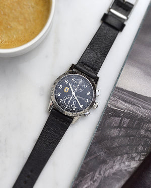 eberhard on black watch strap