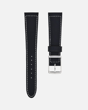 Black Boxed Stitch Watch Strap