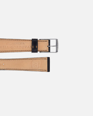 Black Contrast Stitch Shell Cordovan Watch Strap