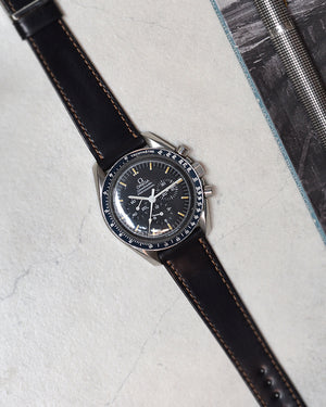 omega speedmaster Black  Shell Cordovan Watch Strap