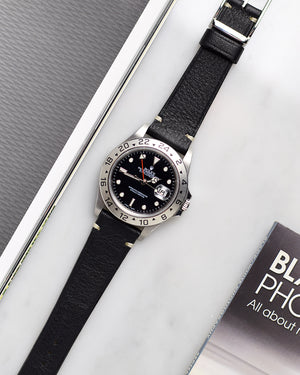 vintage black strap for rolex explorer