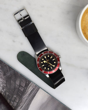 tudor balck bay red on nato Shell Cordovan Watch Strap