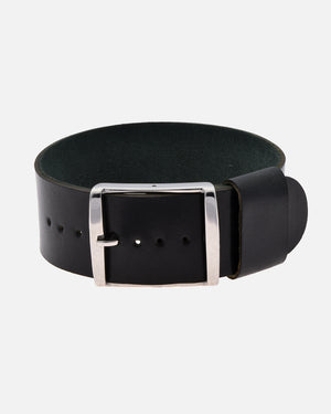 Black Single-Piece Shell Cordovan Watch Strap