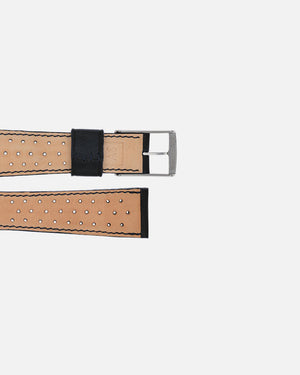Black Racing Leather Watch Strap