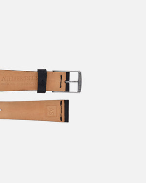 Black Smooth Watch Strap