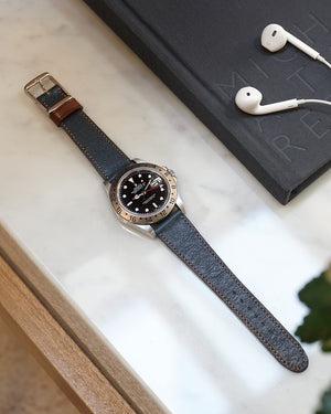 The Homem Watch Strap In Navy Blue