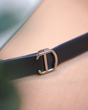 Blue Calfskin Strap for Cartier Deployant