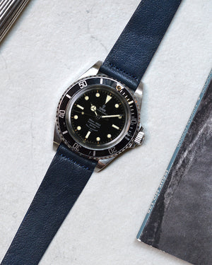 tudor 7928 Blue Leather Watch Strap