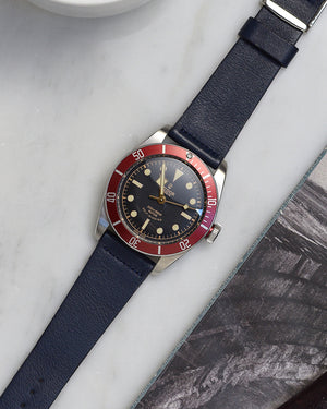 black bay red watch strap
