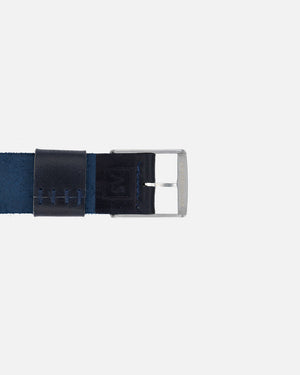 Blue Single-Piece Shell Cordovan Watch Strap