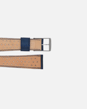 Blue Racing Leather Watch Strap