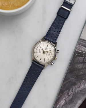 heuer carrera Blue Racing Leather Watch Strap