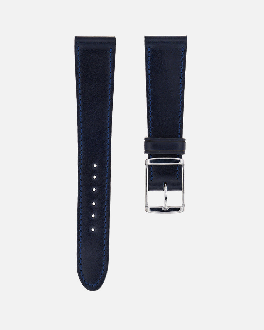 Blue Shell Cordovan Matching Stitch Watch Strap